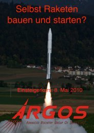 Einsteigerkurs - ARGOS - Advanced Rocketry Group of Switzerland