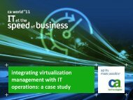 integrating virtualization management with IT ... - CA Technologies