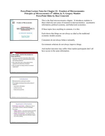 PowerPoint Lecture Notes for Chapter 22