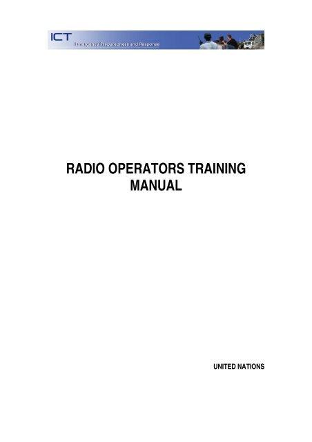 1 Radio Operators Training Survival