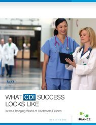 WHAT CDI SUCCESS LOOKS LIKE - Nuance
