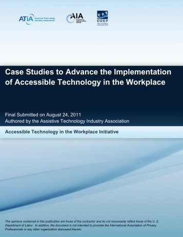 download the case study analysis - Assistive Technology Industry ...