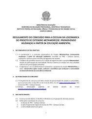 Regulamento do concurso da logomarca da - Campus Canoas - IFRS