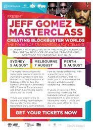 JEFF GOMEX_PROMO_PDF_V4 - South Australian Film Corporation