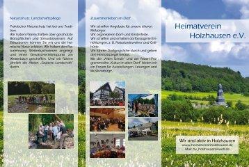 Zur Ansicht und zum Download - Heimatverein Holzhausen