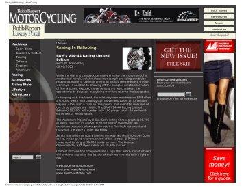 Seeing Is Believing | MotorCycling - Keith Strandberg