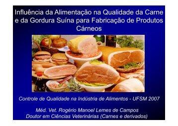 Influência da Alimentação na Qualidade da Carne e da ... - UFSM