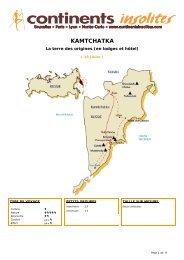 KAMTCHATKA - Continents Insolites