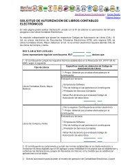 solicitud de autorización de libros contables electrónicos