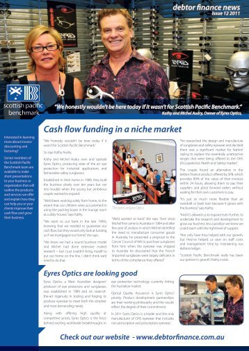 Cash flow funding in a niche market - Debtor Finance
