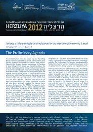 The Preliminary Agenda