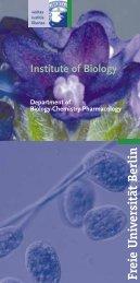 Freie U niversität Berlin - Institut für Biologie und Neurobiologie, FU ...