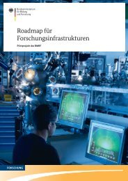Roadmap für Forschungsinfrastrukturen - Infrafrontier
