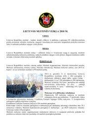 LIETUVOS MUITINöS VEIKLA 2010 M. - Lietuvos Respublikos muitinė