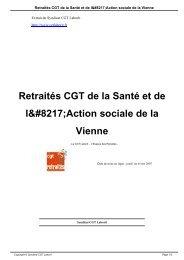 Retraités CGT de la Santé et de l'Action sociale de la Vienne