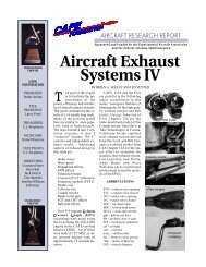 Aircraft Exhaust Systems IV - CAFE Foundation