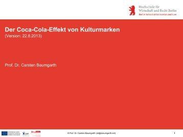 Der Coca-Cola-Effekt von Kulturmarken