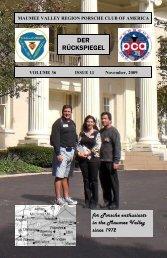 Volume 36 Issue 11, November 2009 - Maumee Valley - Porsche ...