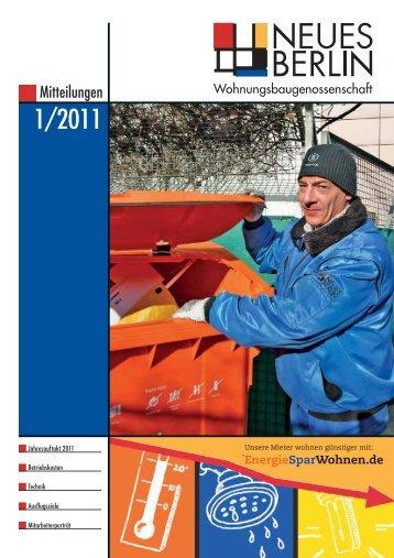 versammlung 2011 - Wohnungsbaugenossenschaft Neues Berlin eG