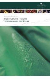 The New Zealand - Thailand Closer Economic Partnership Booklet