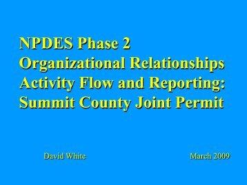 Dave White presentation - Ohio EPA