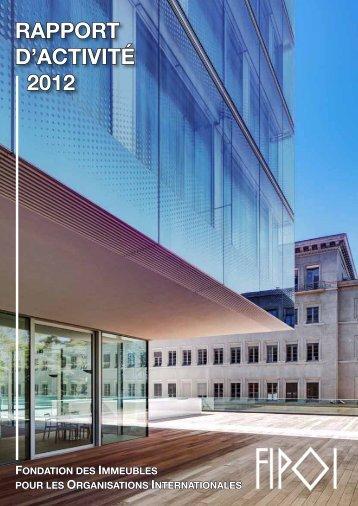 RAPPORT D'ACTIVITÉ 2012 - Fipoi