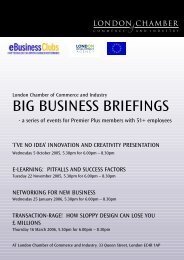 big business briefings - London Chamber of Commerce and Industry