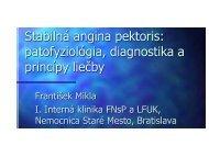Stabilná angina pektoris: patofyziológia, diagnostika a princípy liečby