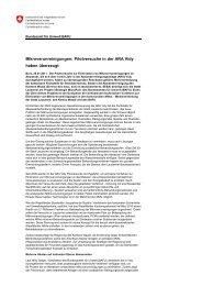 Mikroverunreinigungen Pilotversuche in der ARA Vidy ... - KFVBL