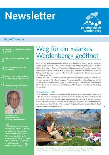 Mai 2007 - Region Werdenberg