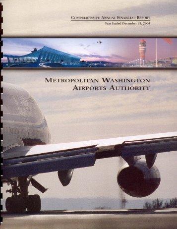 Cafr Draft 7/19 - Metropolitan Washington Airports Authority