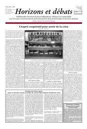 L'esprit coopératif pour sortir de la crise - Réseau Voltaire