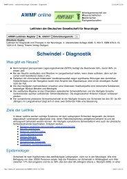 AWMF online - Leitlinie Neurologie_ Schwindel - Diagnostik