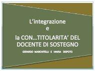 L'integrazione e la con…titolarità del docente di ... - Gilda Venezia