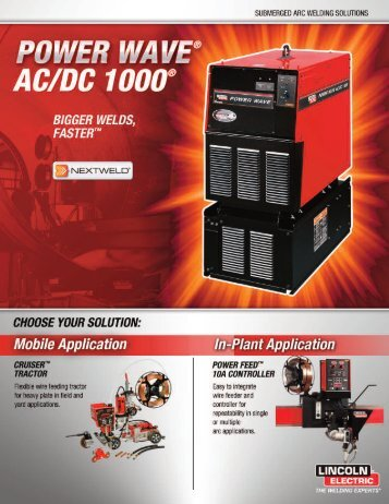 Power Wave AC/DC 1000, Cruiser Tractor, Power Feed 10A Controller