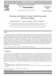 Assessing uncertainty in urban simulations using Bayesian melding