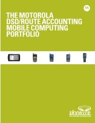 Motorola DSD & Route Accounting Product Brochure
