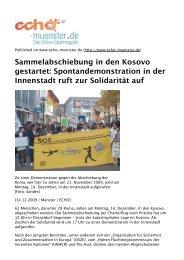 Spontandemonstration in der Innenstadt ruft zur ... - Aktion 302
