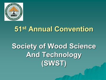 SWST Purposes - Society of Wood Science and Technology