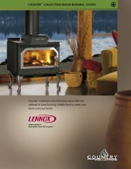 cOUnTRY™ cOLLEcTIOn WOOD-BURnInG STOVES