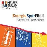 EnergieSpar-Fibel - Wohnungsbaugenossenschaft Neues Berlin eG