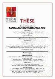 formalisation de connaissances métho - Les thèses en ligne de l'INP ...