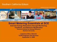 Smart Metering Essentials at SCE - Precourt Energy Efficiency ...
