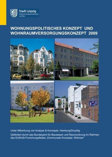 Wohnungspolitisches Konzept/ Wohnraumversorgungskonzept der ...