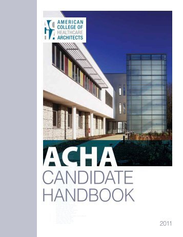 Candidate - American College of Healthcare Architects