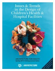 Issues & Trends in the Design of Children's Health & Hospital Facilities