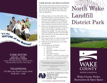 NWLF Brochure - Wake County Government