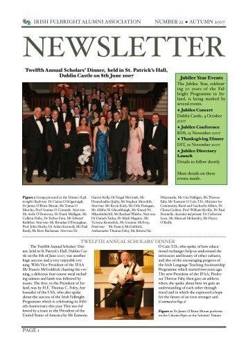 Alumni Newsletter, Issue No: 22 Autumn 2007 - Irish Fulbright ...