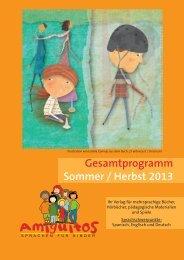 Gesamtprogramm Sommer / Herbst 2013 - Amiguitos