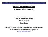 Berliner Herzinfarktregister: Klinikvergleich 2004/5/7